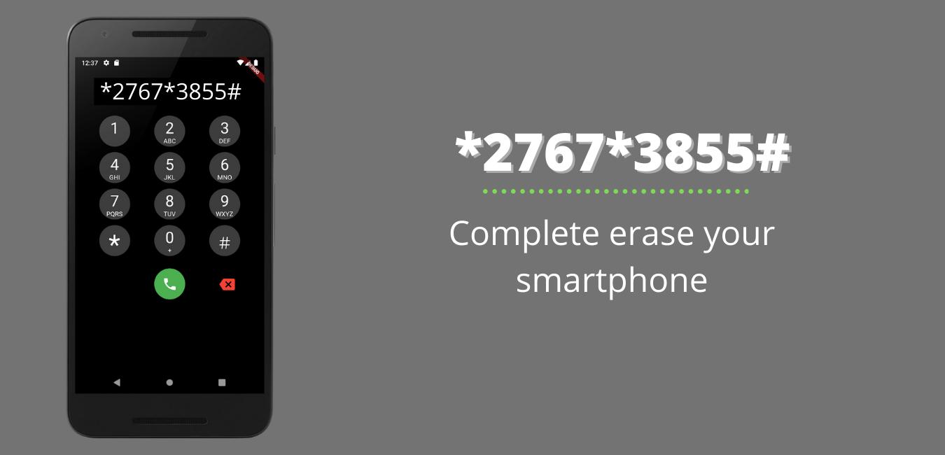 Complete erase your smartphone