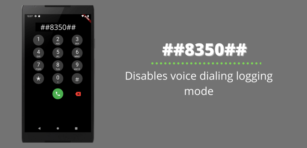 Disables voice dialing logging mode