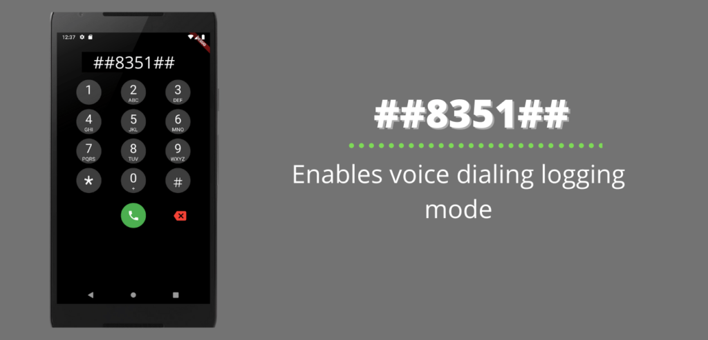 Enables voice dialing logging mode
