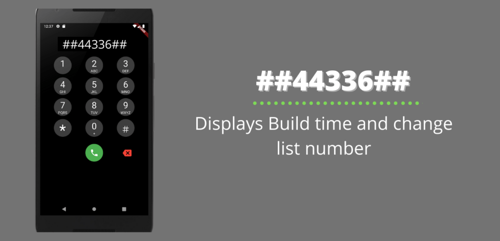 Displays Build time and change list number