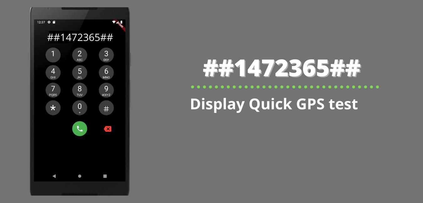 Display Quick GPS test