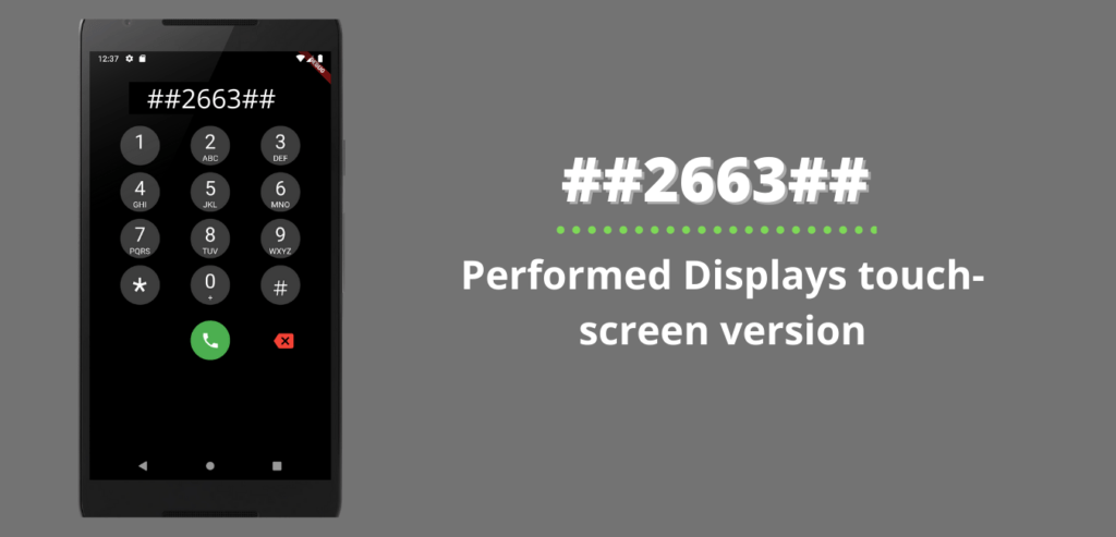 Performed Displays touch-screen version