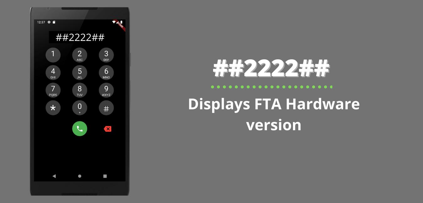 Displays FTA Hardware version