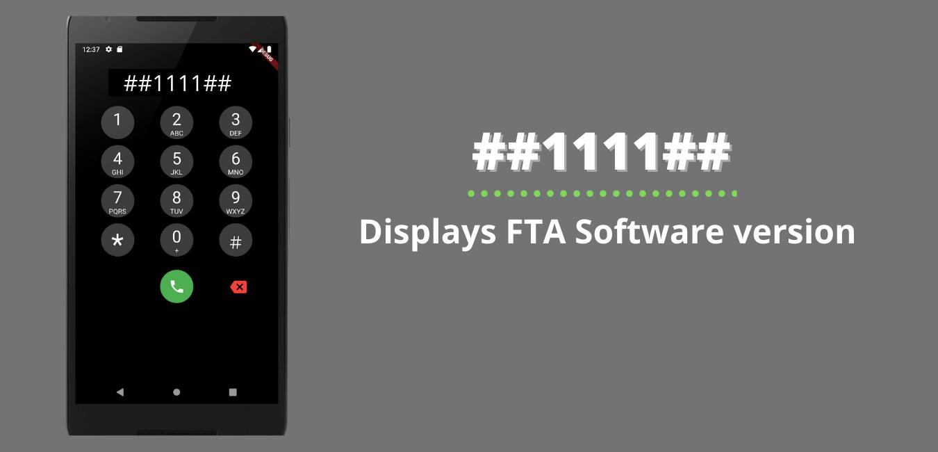 Displays FTA Software version