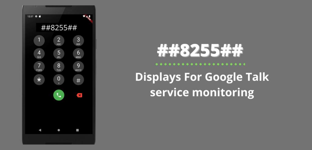 Displays For Google Talk service monitoring