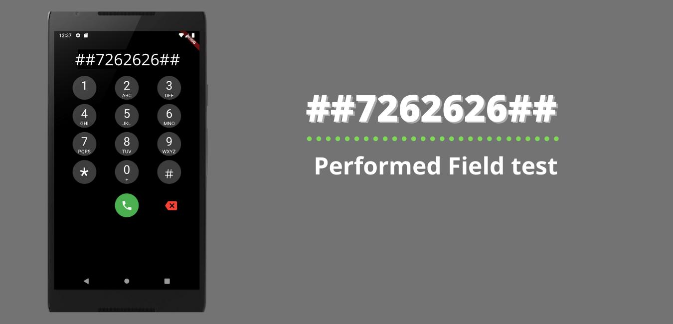 Performed Field test